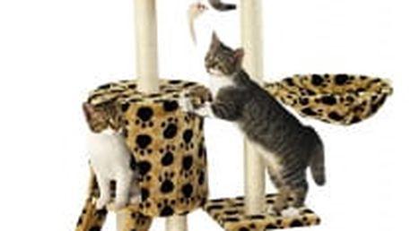 Škrabadlo pro kočky Hawaj 138 cm | tlapkový vzor