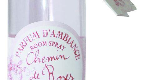 Lothantique Toaletní voda s vůní růže, růžová barva, sklo