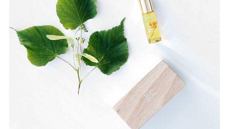 JAGAIA Parfém Lípa 5 ml, čirá barva, sklo, dřevo