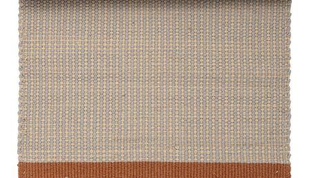 Bloomingville Kobereček Natural Wool, modrá barva, oranžová barva, přírodní barva, textil
