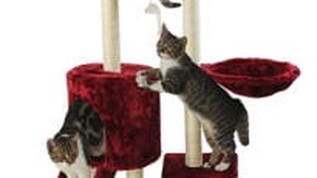 Škrabadlo pro kočky Hawaj 138 cm | vínová