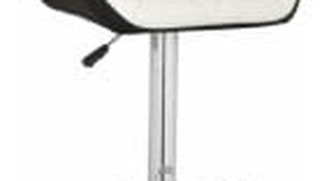 Barová židle CL-3227 WT bílo-černá