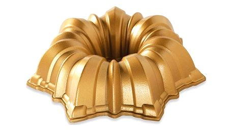 Nordic Ware Hliníková forma Solera Pan Gold, zlatá barva, stříbrná barva, kov