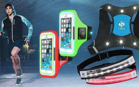 Bežecké vesty a bederní pásy s LED osvětlením