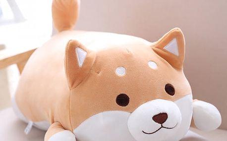 Měkoučký plyšový polštářek - Shiba-Inu