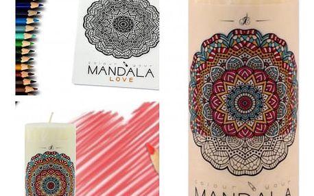 Vonná svíčka s omalovánkou MANDALA