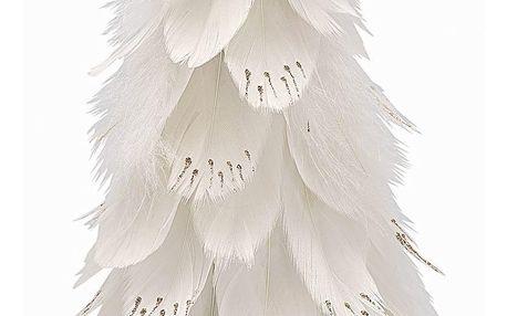 GREEN GATE Dekorativní strom z peří Off White Large, bílá barva, papír