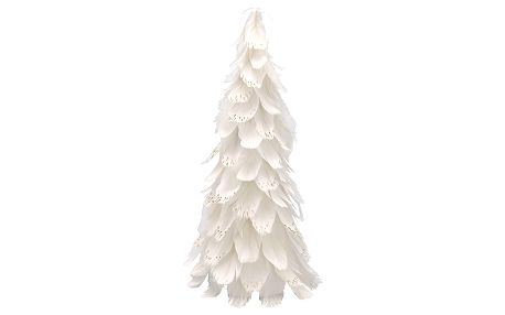 GREEN GATE Dekorativní strom z peří Off White Medium, bílá barva, papír