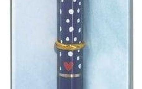 Folklore Kuličkové pero The Rabbit, modrá barva, zlatá barva, kov