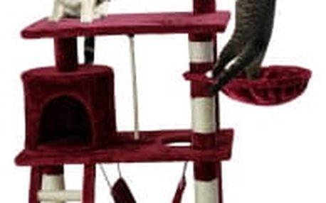 Škrabadlo pro kočky Hawaj 140 cm | vínová