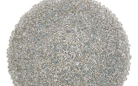 GREEN GATE Vánoční baňka Flora Glitter, stříbrná barva, sklo