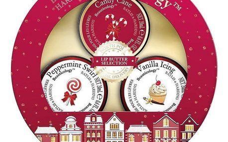 Baylis & Harding Vánoční dárková sada balzámů na rty - Beauticology, červená barva