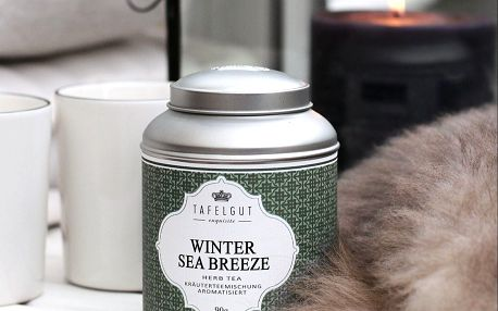 TAFELGUT Bylinný čaj Winter Sea Breeze - 90 gr, zelená barva, kov