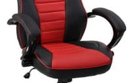 Kancelářská židle Hawaj Racing Deluxe | červeno-černá