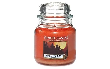 Yankee Candle Svíčka Yankee Candle 411gr - Amber Moon, oranžová barva, sklo, vosk