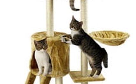 Škrabadlo pro kočky Hawaj 138 cm | béžová