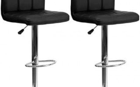 2x Barová židle Hawaj CL-3232-1 | černá