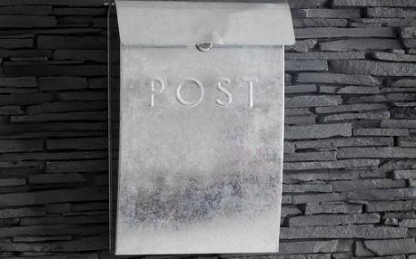 Garden Trading Poštovní schránka Galvanised, šedá barva, zinek