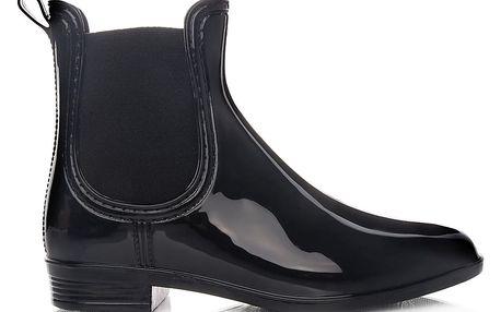 Sboty Nízké černé holínky KT-04B Velikost: 40 (26 cm)