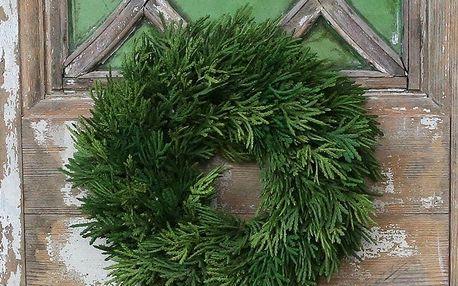 Chic Antique Adventní věnec Cypress 23cm, zelená barva, plast