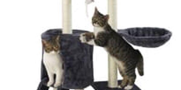 Škrabadlo pro kočky Hawaj 138 cm | tmavě šedá