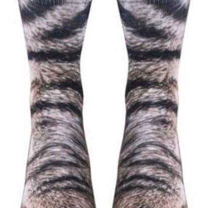 Vtipné ponožky - Zvířecí tlapky
