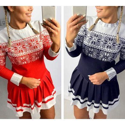 Dámské šaty s vánočním motivem Katalina