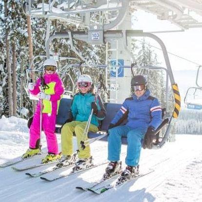 Šumava u ski areálu s wellness a slevami