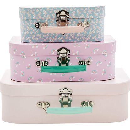 rice Dětský kufřík Pink Rice 3 varianty S, růžová barva, kov, papír