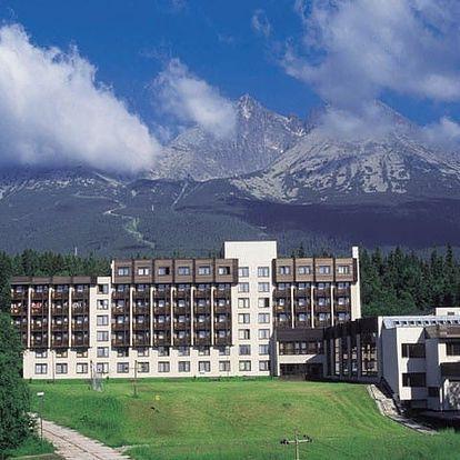 Slovensko - Vysoké Tatry na 4 až 5 dní, polopenze nebo bez stravy s dopravou vlastní