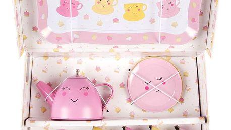 sass & belle Dětský picnic box Happy, růžová barva, kov, papír