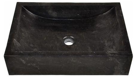 Divero NOVARA 944 Kamenné umyvadlo - leštěný mramor černé