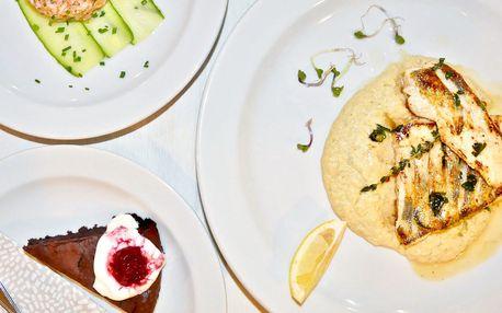 Degustační menu s tatarákem, candátem či kotletou
