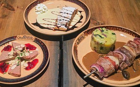Zvěřinové menu ve vyhlášené restauraci U Sádlů