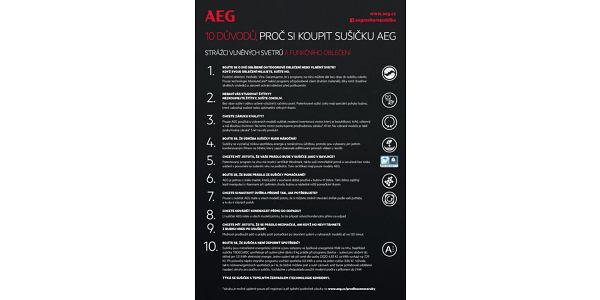Sušička prádla AEG AbsoluteCare® T8DBE68SC bílá3