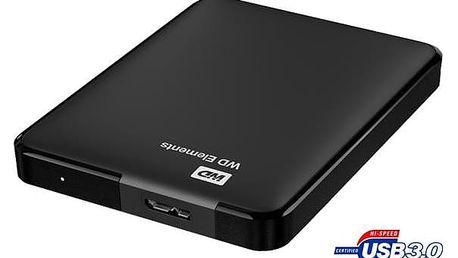 Western Digital Elements Portable 500GB černý (WDBUZG5000ABK-WESN)