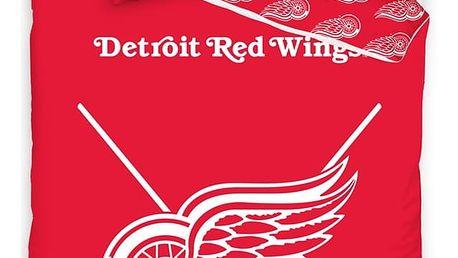 TipTrade Bavlněné svíticí povlečení NHL Detroit Red Wings, 140 x 200 cm, 70 x 90 cm