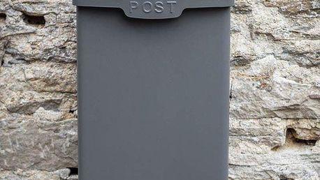 Garden Trading Poštovní schránka Shipton Charcoal, šedá barva, kov