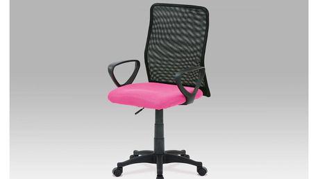 Kancelářská židle, látka MESH růžová / černá, plyn.píst KA-B047 PINK Autronic