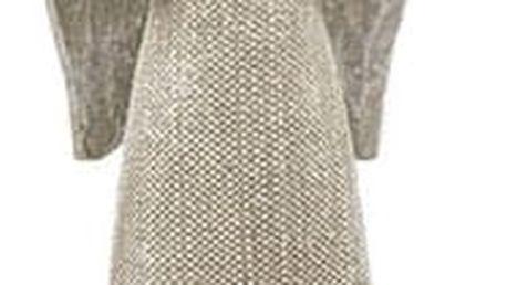 Vánoční dekorace Anděl s holubicí, stříbrná