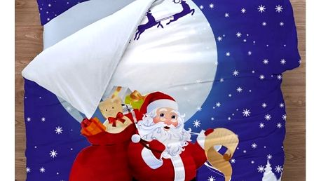 BedTex Bavlněné povlečení Santa 3D, 140 x 200 cm, 70 x 90 cm