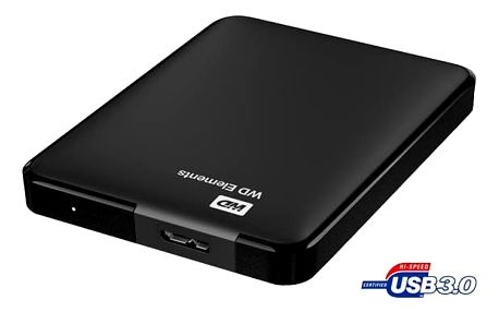 Western Digital Elements Portable 500GB černý (WDBUZG5000ABK-WESN)