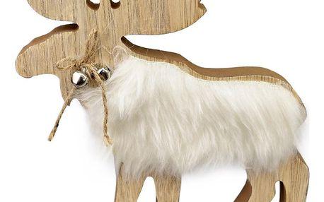 Dřevěná dekorace Sob Matyáš, 21 cm
