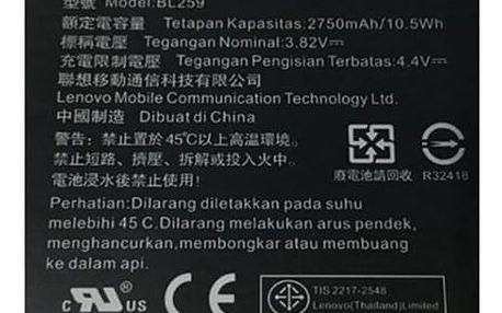 Lenovo BL259 pro K5 / K5 Plus / C2, Li-Pol 2750mAh - bulk černá (8595642258350)