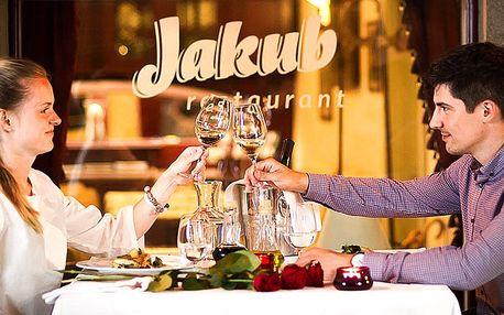 5chodové degustační menu v luxusní restauraci