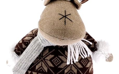 Vánoční filcový sob Albert, hnědá