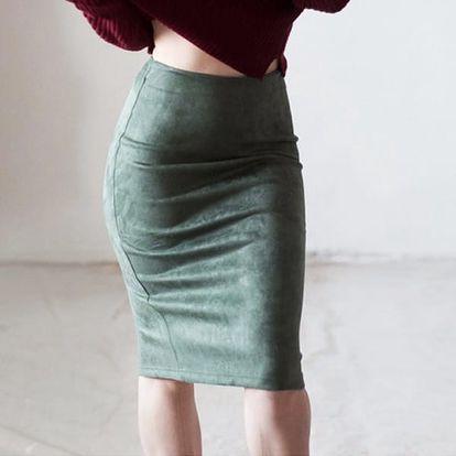 Luxusní semišová sukně na podzim a zimu - 10 barev
