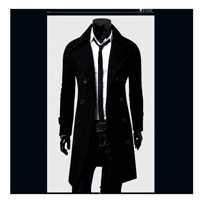 Pánský kabát Giorgio - Černá-L/XL - dodání do 2 dnů