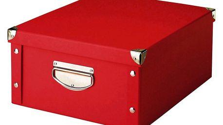 Box pro skladování, 40x33x17 cm, barva červená , ZELLER