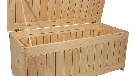 Gaboni 55249 Zahradní úložný box bez povrchové úpravy - 134 x 59 cm